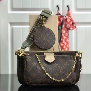 Louis Vuitton multi pochette accessories kaki
